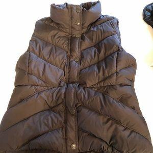 J Crew puffer vest. Dark chocolate color